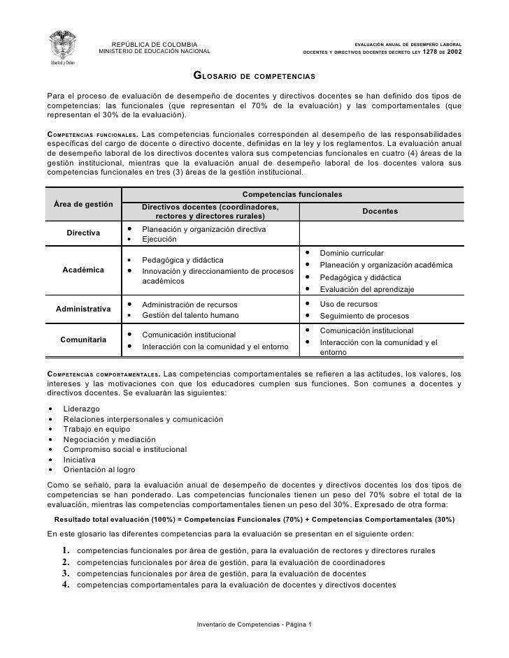 REPÚBLICA DE COLOMBIA                                                      EVALUACIÓN ANUAL DE DESEMPEÑO LABORAL          ...