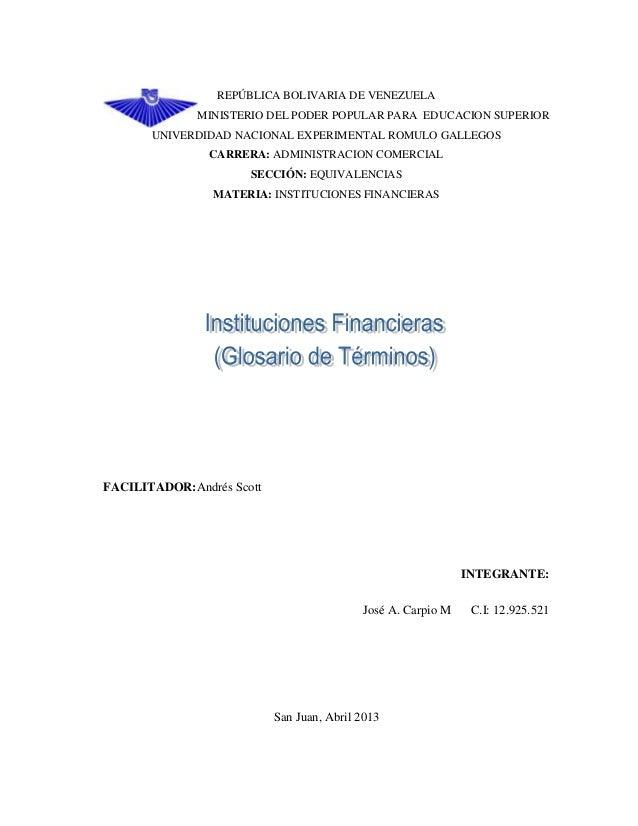 REPÚBLICA BOLIVARIA DE VENEZUELAMINISTERIO DEL PODER POPULAR PARA EDUCACION SUPERIORUNIVERDIDAD NACIONAL EXPERIMENTAL ROMU...