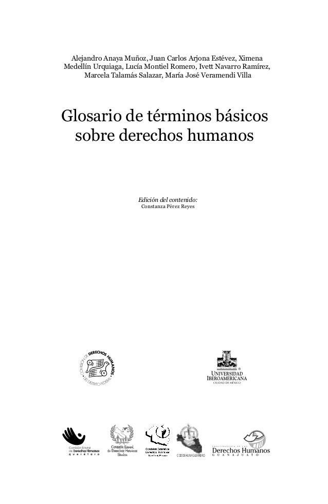 Glosario de términos básicos sobre derechos humanos