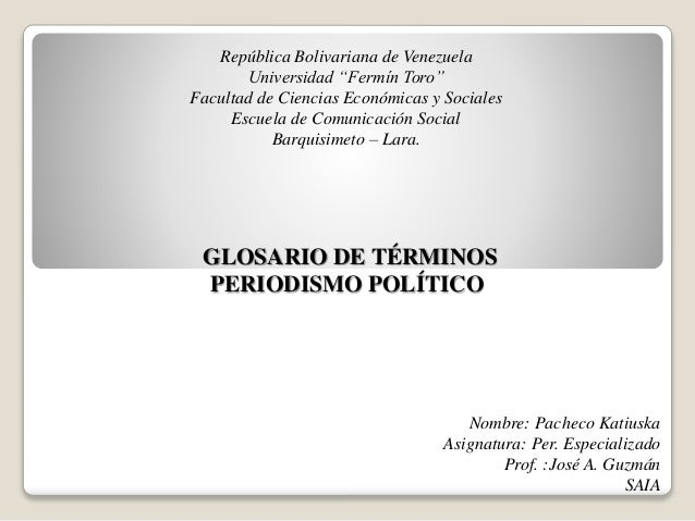 """República Bolivariana de Venezuela Universidad """"Fermín Toro"""" Facultad de Ciencias Económicas y Sociales Escuela de Comunic..."""