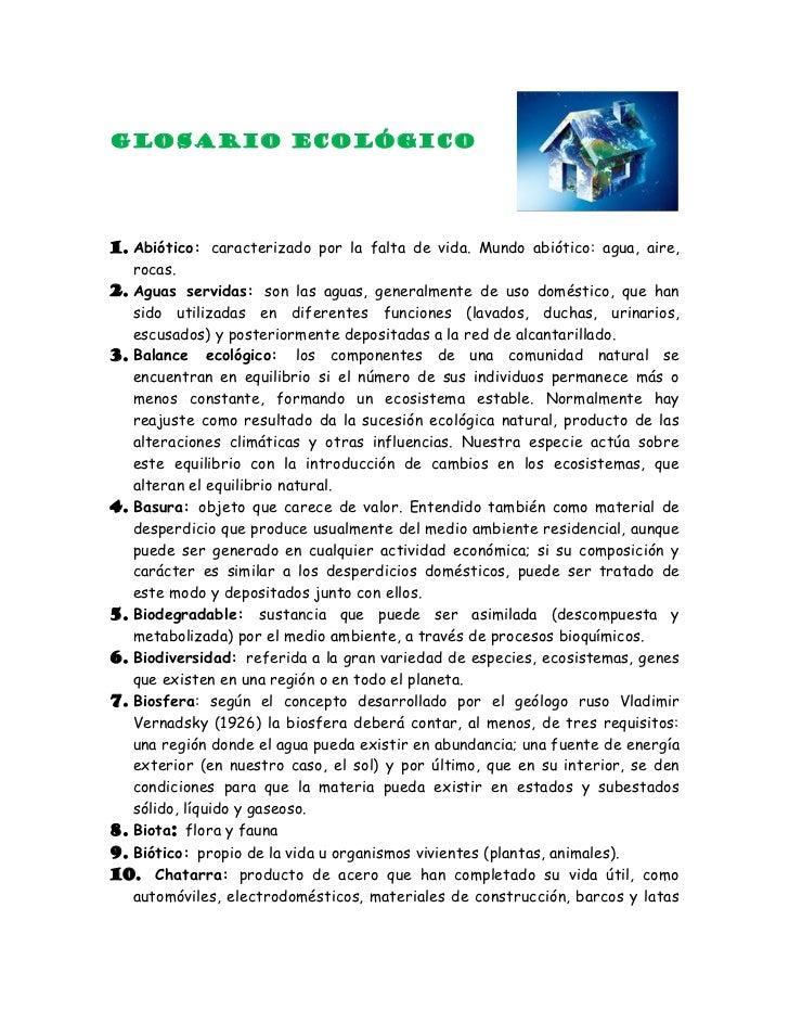 Glosario ecológico