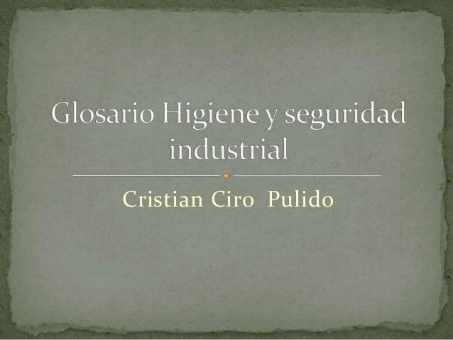 Cristian Ciro Pulido