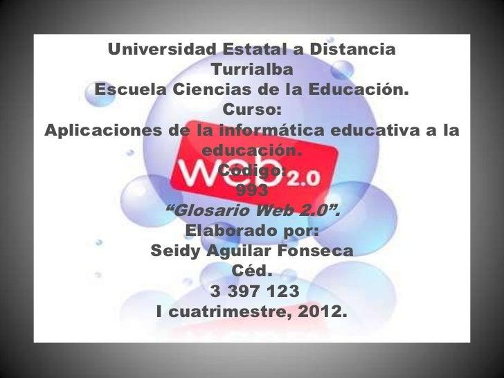 Universidad Estatal a Distancia                  Turrialba     Escuela Ciencias de la Educación.                    Curso:...