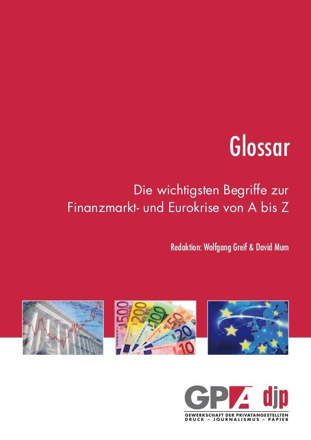 Glossar finanzmarkt und-eurokrise