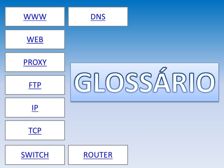 WWW       DNS   WEB  PROXY   FTP    IP   TCP  SWITCH   ROUTER
