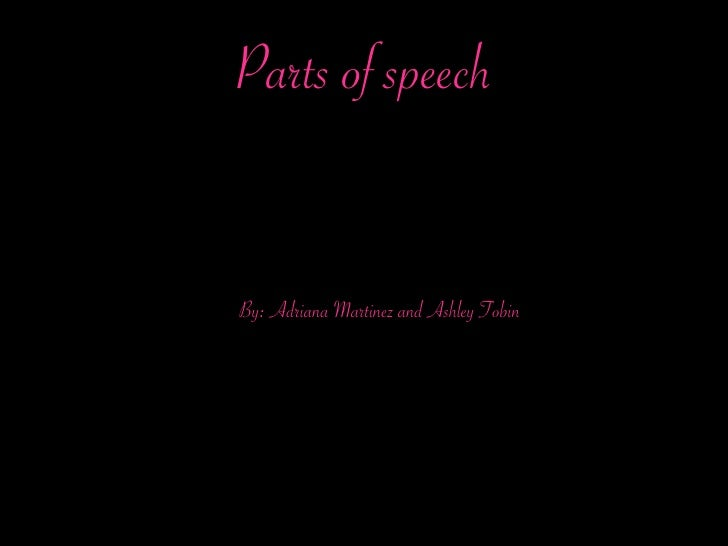 Glossary Of Part Of Speach