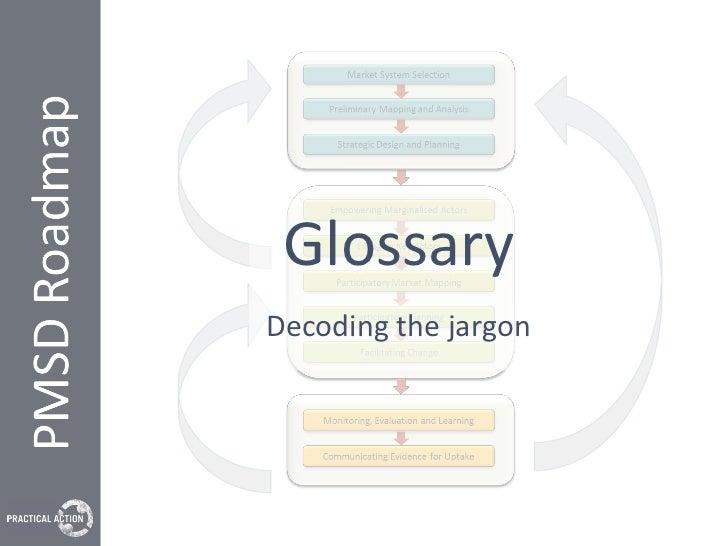 The PMSD Roadmap Glossary