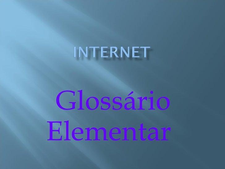 Glossário Elementar