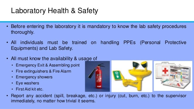 why must laboratory procedures and practices Details the procedures that should be followed to safely manage a laboratory   laboratory must have a local code of practice which gives a.