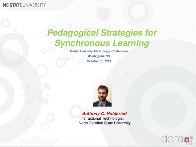 Pedagogical Strategies for Synchronous Learning