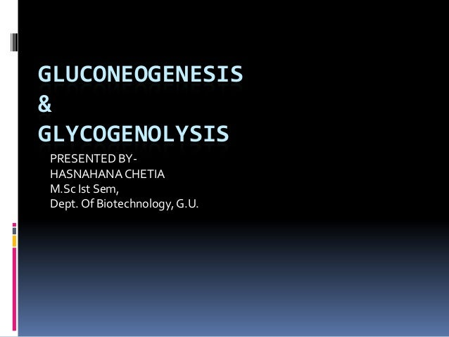 GLUCONEOGENESIS & GLYCOGENOLYSIS PRESENTED BY- HASNAHANA CHETIA M.Sc Ist Sem, Dept.Of Biotechnology,G.U.