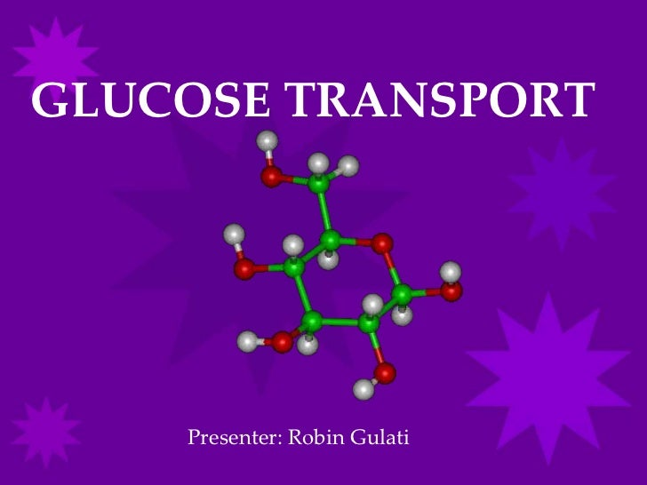 GLUCOSE TRANSPORT    Presenter: Robin Gulati