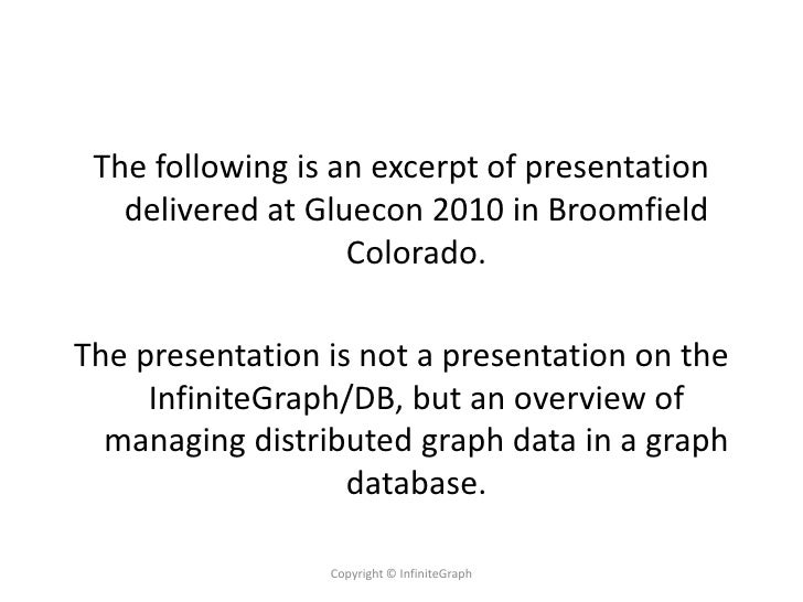 The following is an excerpt of presentation    delivered at Gluecon 2010 in Broomfield                    Colorado.  The p...
