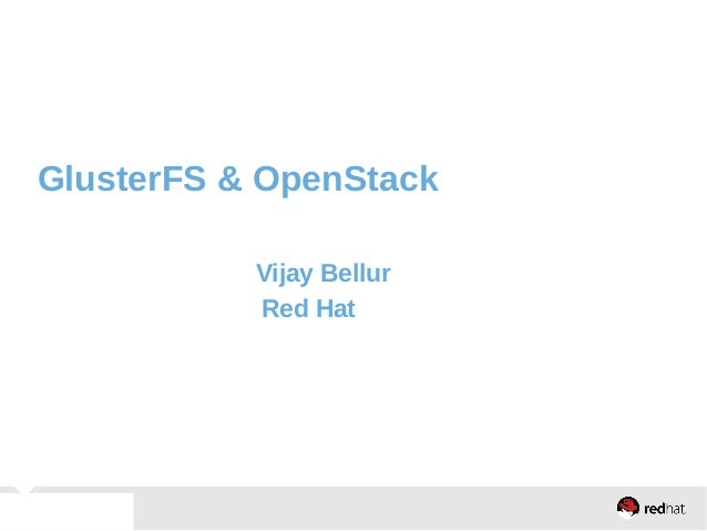 Glusterfs  and openstack