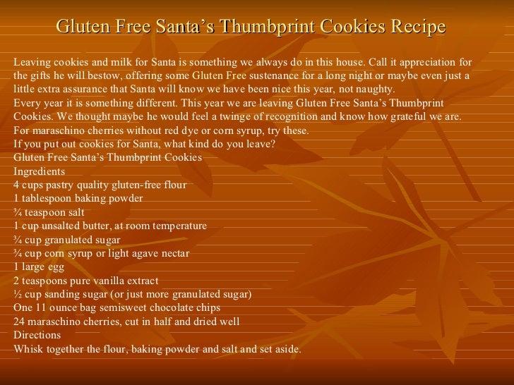 Gluten free santa's thumbprint cookies recipe