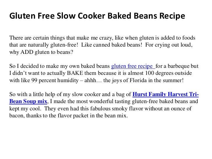 Gluten free slow cooker baked beans recipe