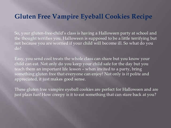 Gluten free vampire eyeball cookies recipe