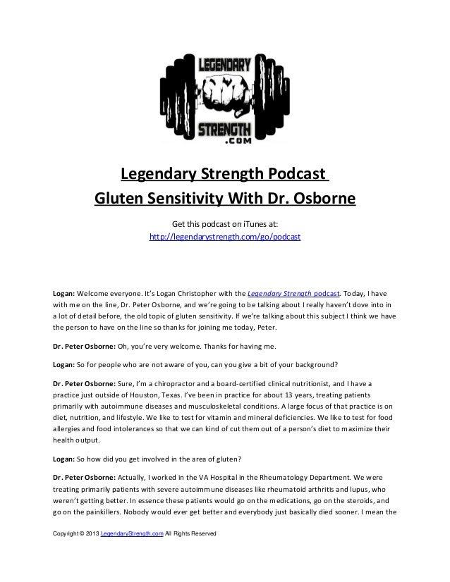 Gluten Sensitivity with Dr. Peter Osborne