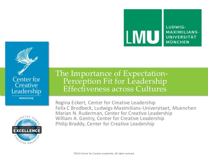 The Importance of Expectation- Perception Fit for Leadership Effectiveness across Cultures