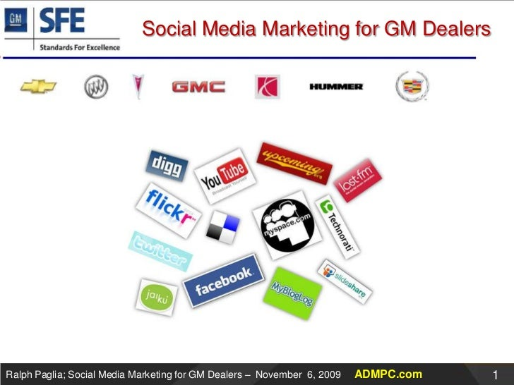General Motors SFE Presentation about Social Media Marketing for Dealers