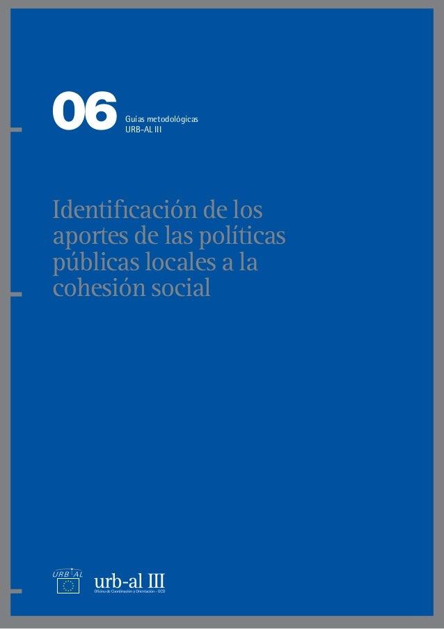 Identificación de los aportes de las políticas públicas locales a la cohesión social