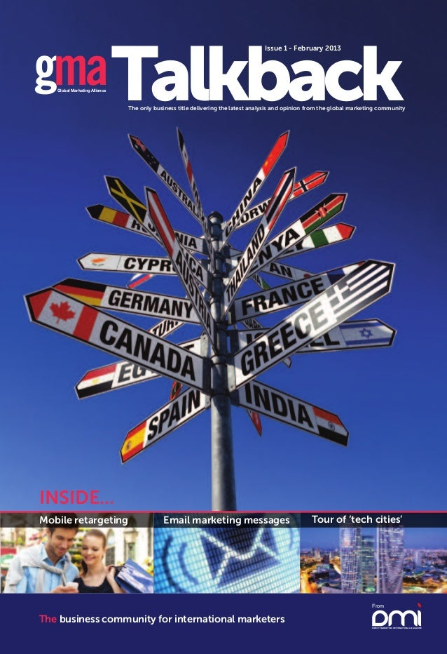 Issue 1 - February 2013gma Talkback   Global Marketing Alliance                               The only business title deli...