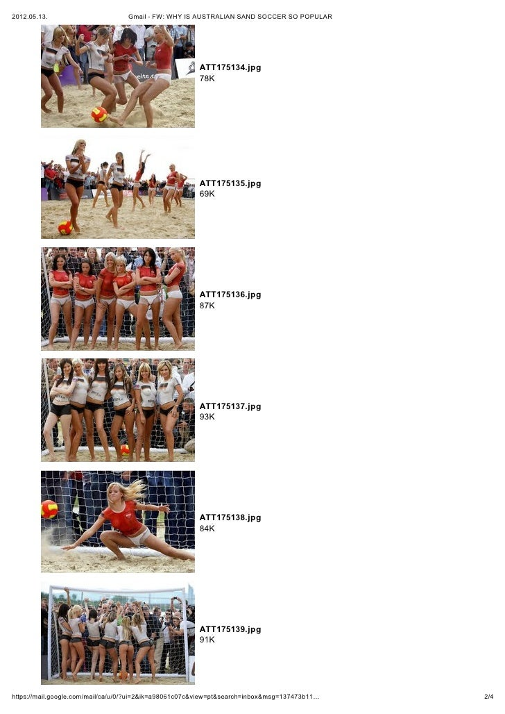 2012.05.13.                       Gmail - FW: WHY IS AUSTRALIAN SAND SOCCER SO POPULAR                                    ...