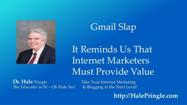 Dr. Hale Pringle Take Your Internet Marketing The Educator is IN – Oh Hale Yes! & Blogging to the Next Level! http://HaleP...