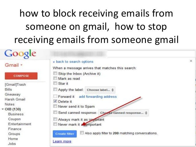 Gmail stop receiving emails