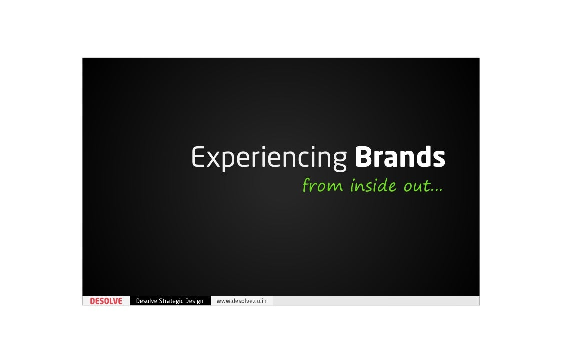 Experiencing Brands | from inside out