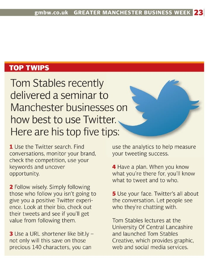 Top Twitter Tips Article