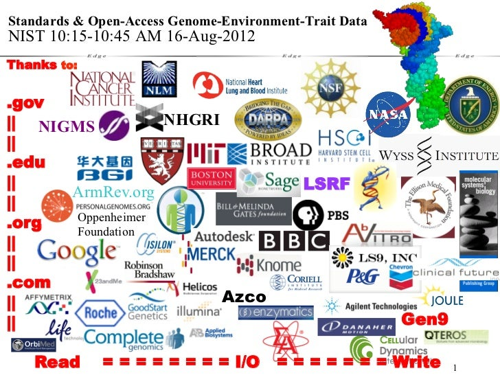 George Church: Standards & Open-Access Genome-Environment-Trait Data