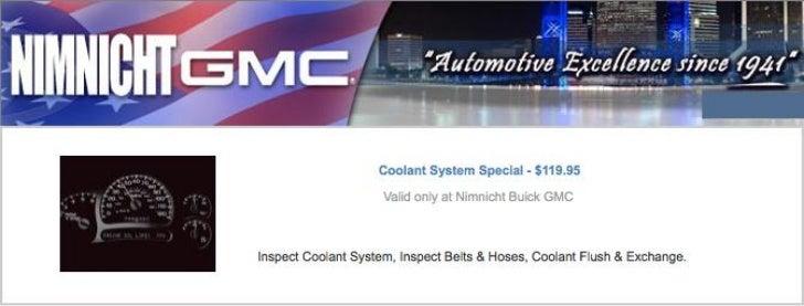 GMC Coolant Service Special FL | GMC Service Center in Jacksonville