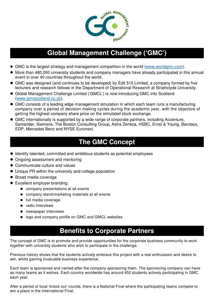 Global Management Challenge in Scotland