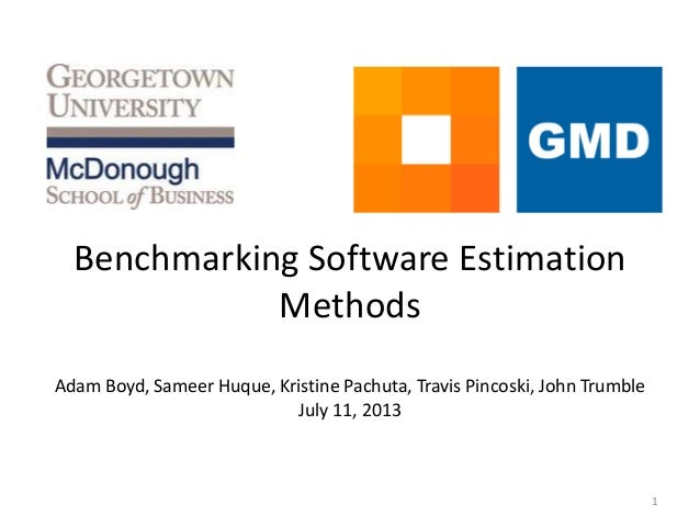 Benchmarking Software Estimation Methods