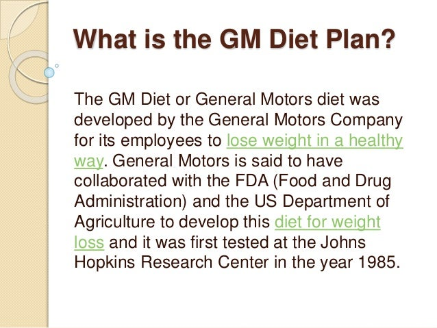 Beginners guide to 7 day gm diet plan autos post for General motors diet pdf