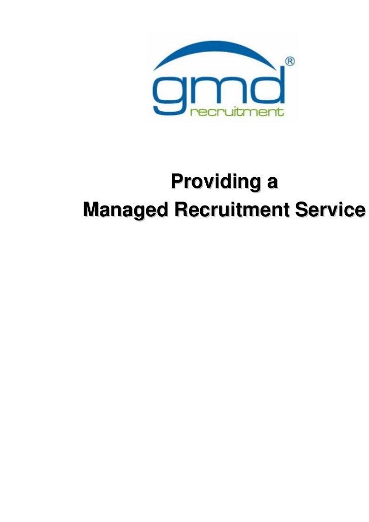 Gmd recruitment presentation 2009