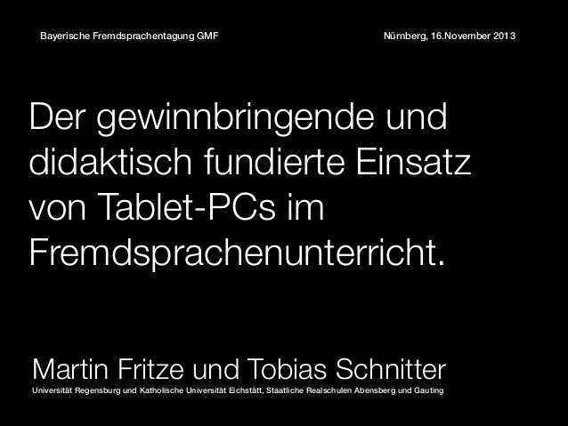 Gmf 2013 keynote tabletpcs fritze schnitter