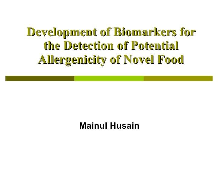 GM Food Allergy Biomarkers