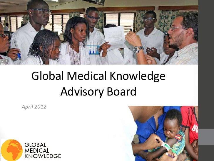 Gmk advisory board presentation 2012