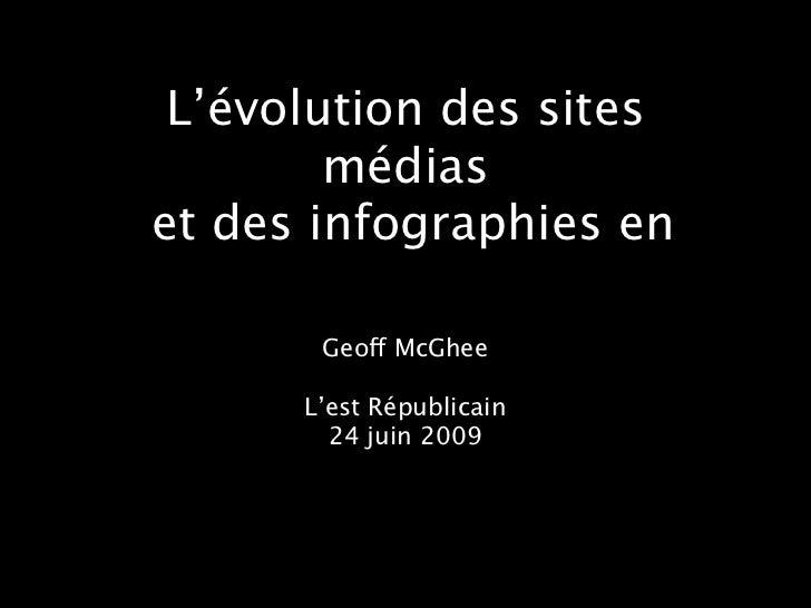 L'évolution des sites        médiaset des infographies en       Geoff McGhee      L'est Républicain        24 juin 2009
