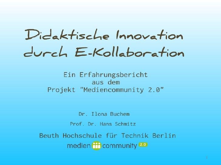 Didaktische Innovation durch E-Kollaboration