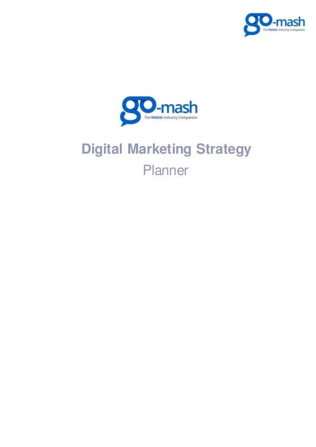 Go-Mash Mobile Digital Marketing Planner