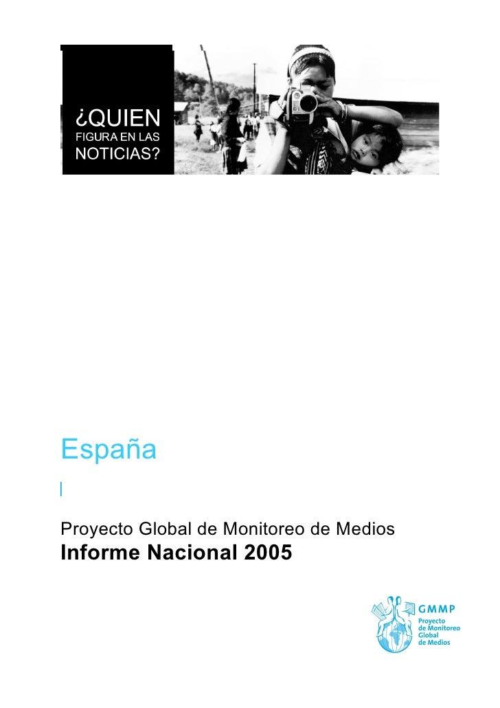España  Proyecto Global de Monitoreo de Medios Informe Nacional 2005