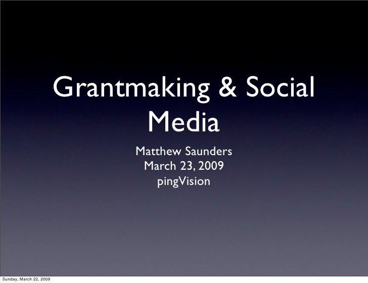 Grant Makers Network - Social Media