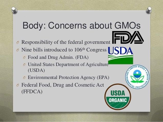 Genetically modified food persuasive speech