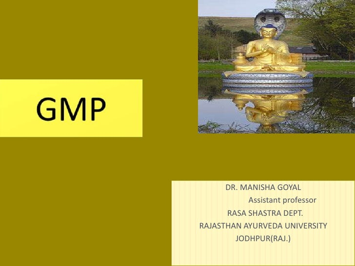 Gmp ayurveda
