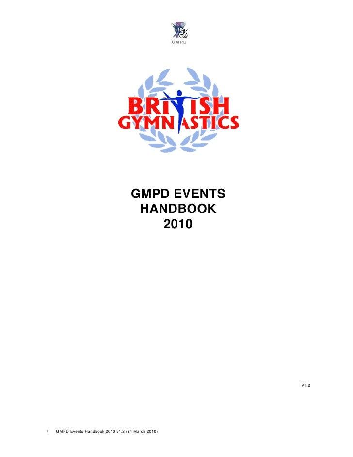 GMPD EVENTS                                       HANDBOOK                                          2010                  ...
