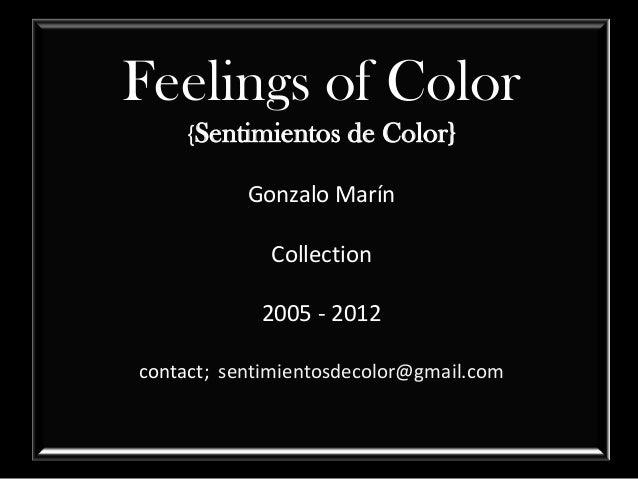 Feelings of Color    {Sentimientos de Color}           Gonzalo Marín             Collection            2005 - 2012contact;...