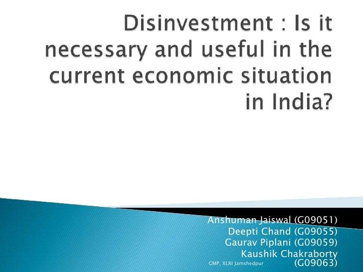 Gmp Section B Macro Economics Disinvestment Report